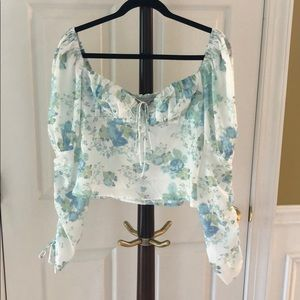Bustier style blouse